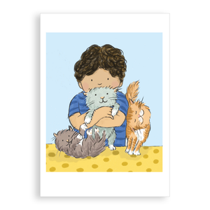 Greetings card - Purry Pals