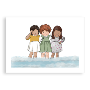 Greetings card - Friends at the Seaside
