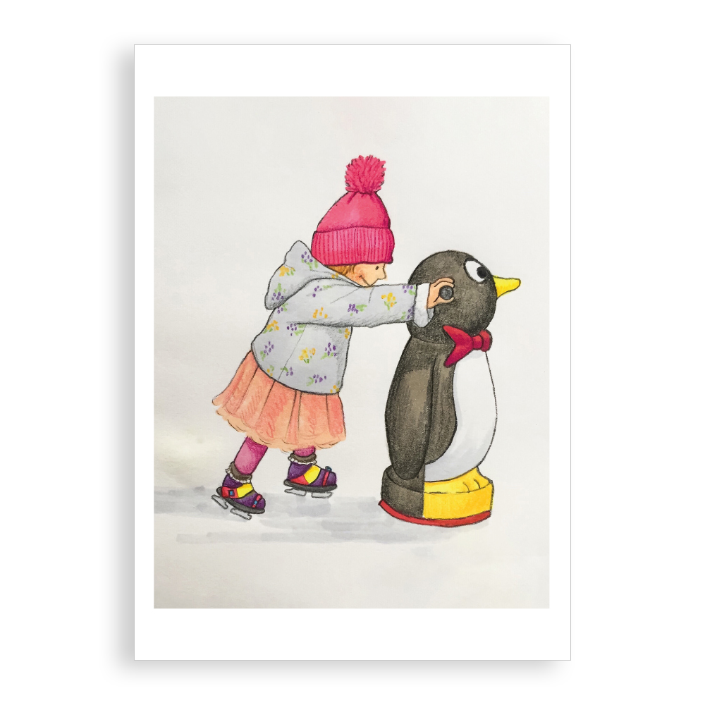 Pack of 5 printed Christmas cards - Skater Friends