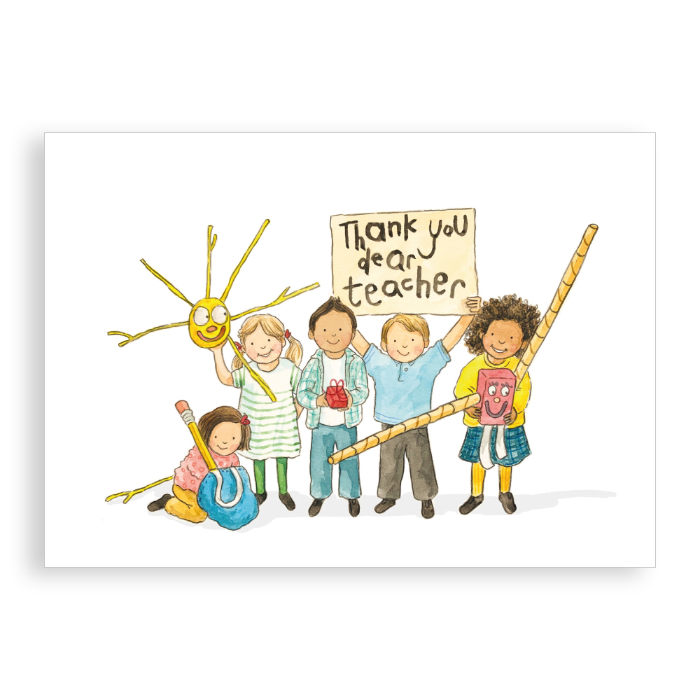 Greetings Card - Thank You Teacher