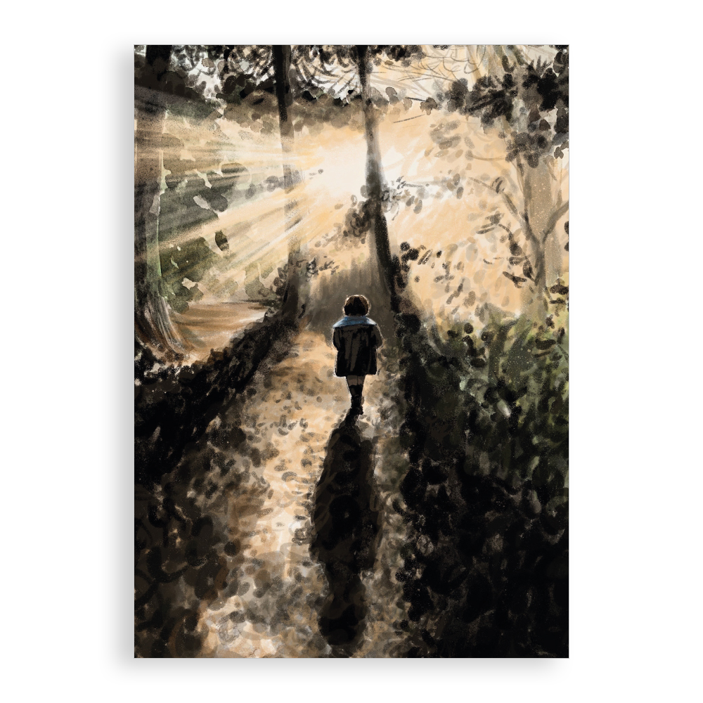 Greetings card - A Little Walk