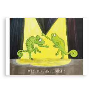 Greetings card - Well Done and Hooray!