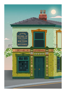Peveril of the Peak Manchester Poster Print