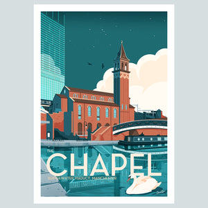 The Chapel, Bridgewater Viaduct, Manchester Vintage Travel Poster Print