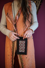 Load image into Gallery viewer, Black | Hand Embroidered Phone Bag