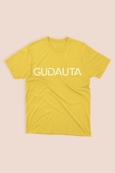 YELLOW UNISEX T-SHIRT - GUDAUTA