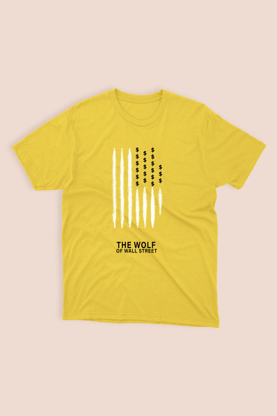YELLOW T-SHIRT - THE WOLF OF WALL STREET