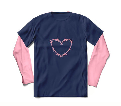 HEART - LONG SLEEVE SHIRT FOR WOMEN