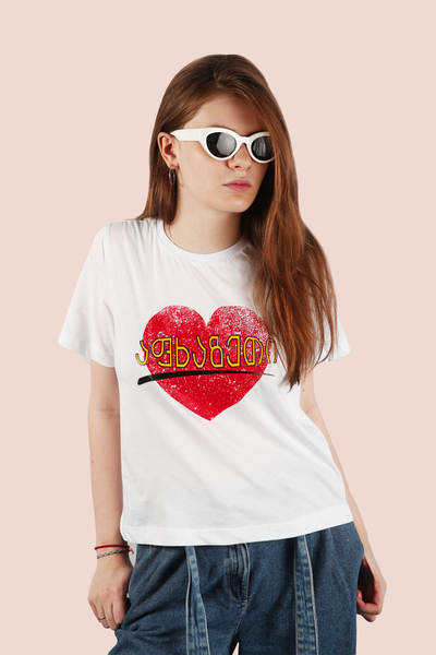 WHITE T-SHIRT FOR WOMEN - ABKHAZETI