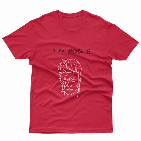 DAVID BOWIE - RED UNISEX T-SHIRT