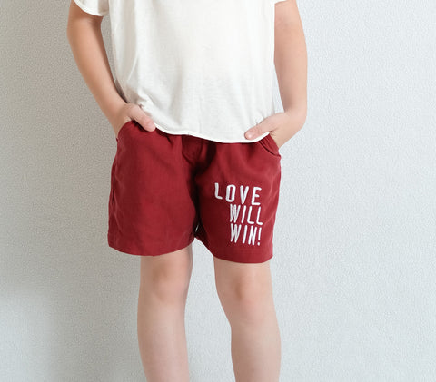 BORDEAUX SHORTS FOR GIRL
