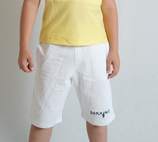 WHITE SHORTS FOR BOY