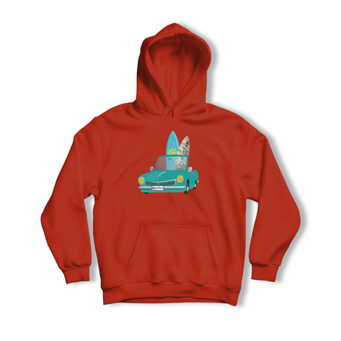 RED HOODIE FOR KIDS - GAGRA BEACH