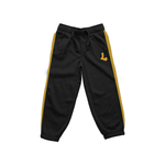 LACOAJ SPORTSWEAR PANTS BLACK&YELLOW