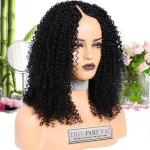Kayla (LOOSE KINKY CURL/3c ) - Thin-Part Wig