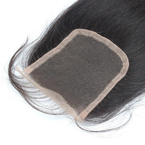 Supreme Luxury Virgin Indian Salon Relaxed LACE CLOSURE