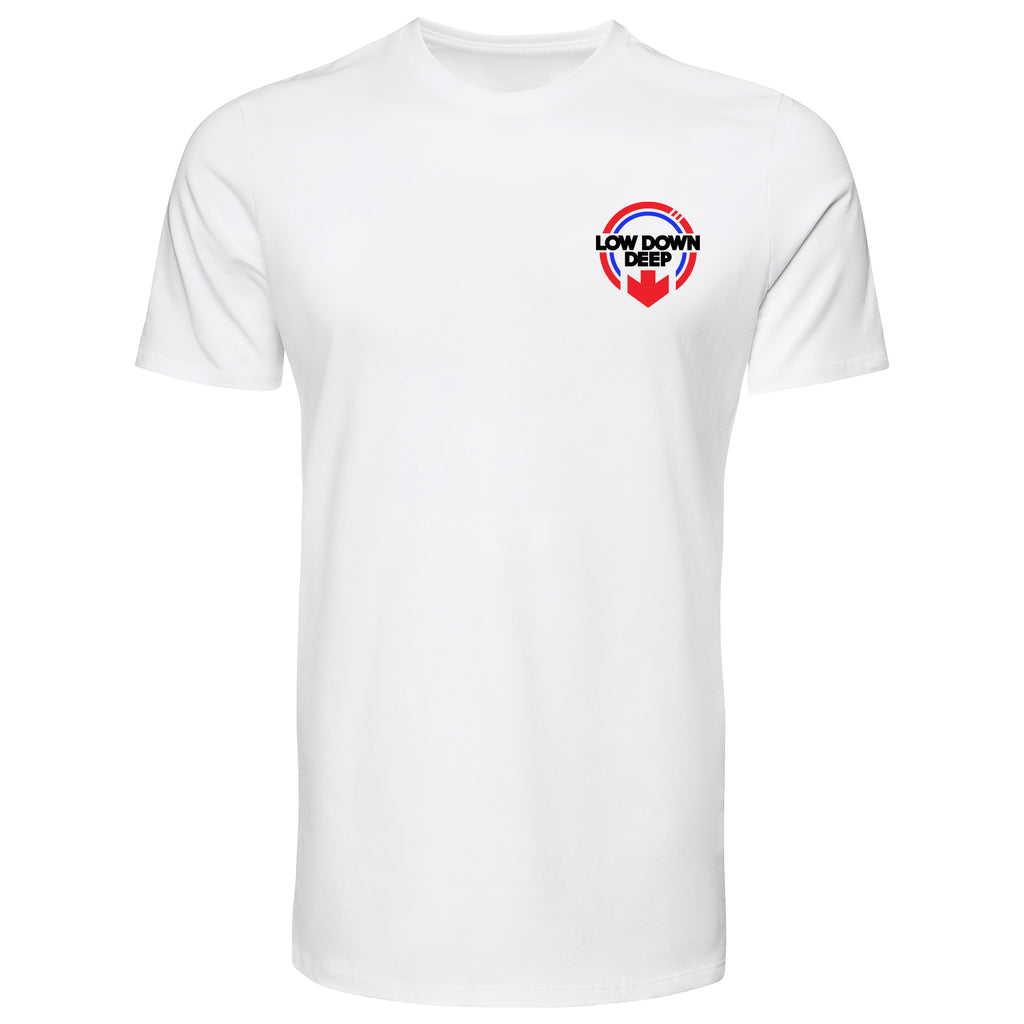 Small Chest Logo (White Tee)