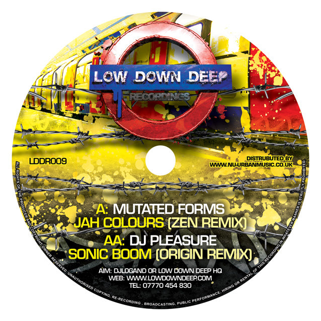 LDD 010 - Mutated Forms 'Jah Colours Zen Remix' | DJ Pleasure 'Sonic Boom Origin Remix'