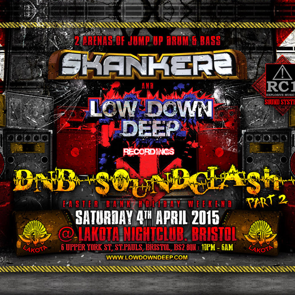 LDD & Skankers 'DnB Soundclash Pt 2' @Lakota 4th April 2015 (Digital Download)