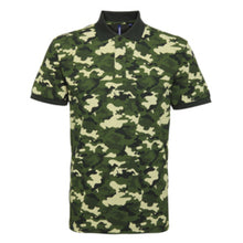 Load image into Gallery viewer, Asquith & Fox  Camo Pique Polo