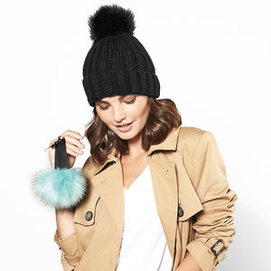 Beechfield  Fur Pop Pom Key Ring