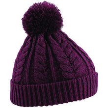 Load image into Gallery viewer, Beechfield Cable Knit Snowstar Beanie