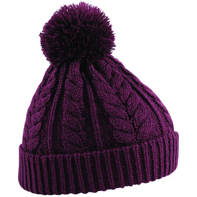 Beechfield Cable Knit Snowstar Beanie