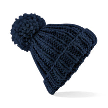 Load image into Gallery viewer, Beechfield  Oversized Hand-knitted Beanie