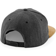 Load image into Gallery viewer, Beechfield Suede Peak Snapback