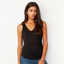 Load image into Gallery viewer, Bella + Canvas Flowy V-neck Tank Top