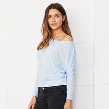 Load image into Gallery viewer, Bella + Canvas Flowy Off-the-shoulder Long Sleeve T-shirt