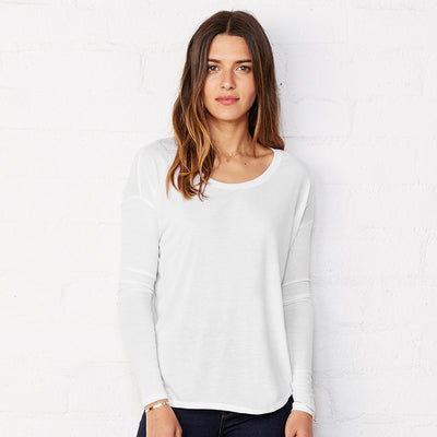 Bella + Canvas Flowy Long Sleeve T-shirt With 2x1 Sleeves