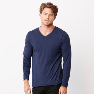 Bella + Canvas Triblend Long Sleeve V-neck T-shirt