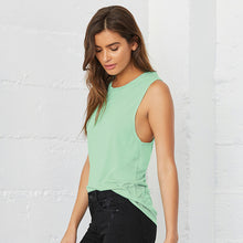 Load image into Gallery viewer, Bella + Canvas Flowy Scoop Muscle T-shirt