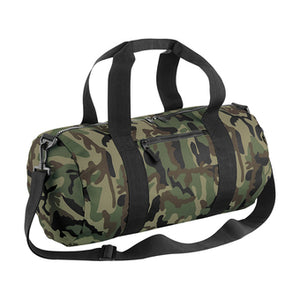 Open image in slideshow, Bagbase Camo Barrel Bag
