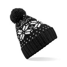 Load image into Gallery viewer, Beechfield Fair Isle Snowstar Beanie