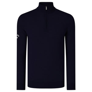 Callaway  Ribbed 1/4 Zip Merino Sweater