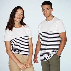 Front Row  Short-sleeved Breton T - Tag-free
