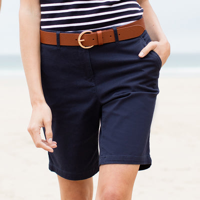 Front Row Womenss Stretch Chino Shorts Tagless