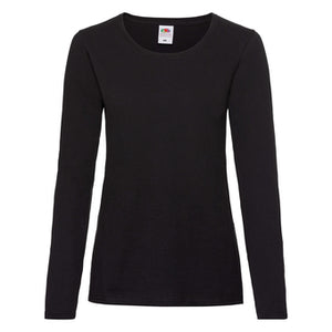 Fruit Of The Loom Lady-fit Valueweight Long Sleeve Tee