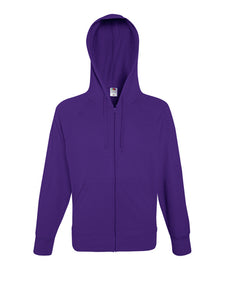 Fruit Of The Loom Lightweight Hooded Sweatshirt Jacket