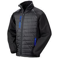 Load image into Gallery viewer, Result  Black Compass Padded Softshell Jacket
