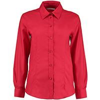 Kustom Kit Womens Workplace Oxford Blouse Long Sleeved