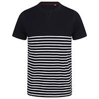 Load image into Gallery viewer, Front Row  Short-sleeved Breton T - Tag-free