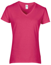Load image into Gallery viewer, Gildan  Womens Premium Cotton V-neck T-shirt
