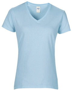 Gildan  Womens Premium Cotton V-neck T-shirt
