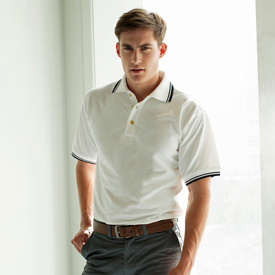 Henbury Tipped Collar And Cuff Polo Shirt
