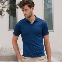 Load image into Gallery viewer, Henbury Cooltouch Textured Stripe Polo
