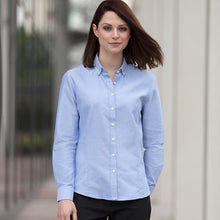 Load image into Gallery viewer, Henbury  Womens Modern Long Sleeve Oxford Shirt