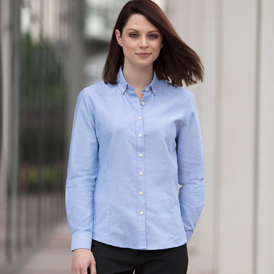 Henbury  Womens Modern Long Sleeve Oxford Shirt